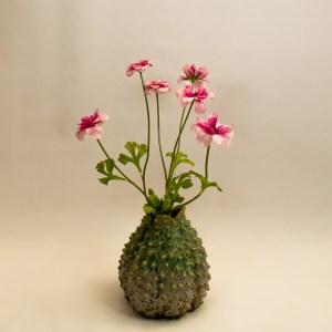Zijdebloemen met vaasje 'pinklove'